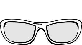 Modell Ida med briller