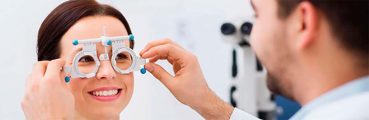 Synsprøve hos optiker