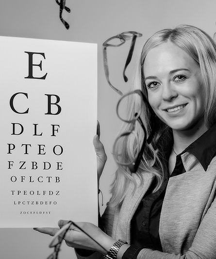 Vår optiker Anne
